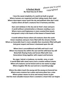 A Perfect World Poem Copyrighted full page