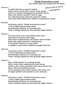 Child Protection Laws Song Lyrics