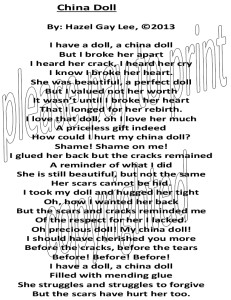 China Doll Poem