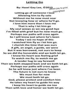 Letting Go Poem