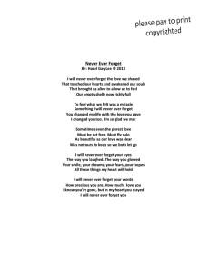 Never Ever Forget Poem