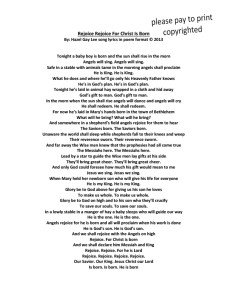 Rejoice Rejoice For Christ Is Born Poem Format Song Lyrics