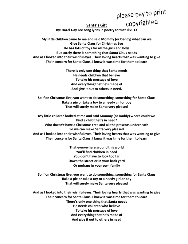 Christmas love songs lyrics