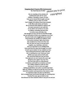 Stepping Back (Twenty-Fifth Anniversary) Poem