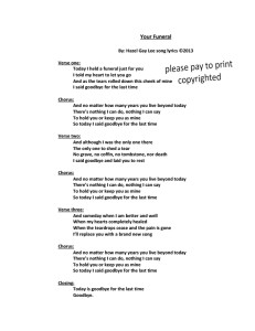 Your Funeral Song Lyrics