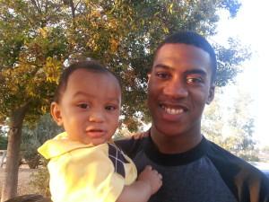 Kayden and DeShawn big smile