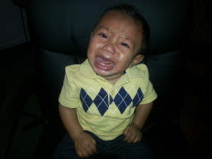 Kayden crying 7 months old